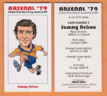Arsenal Sammy Nelson Northern Ireland 3 (B)
